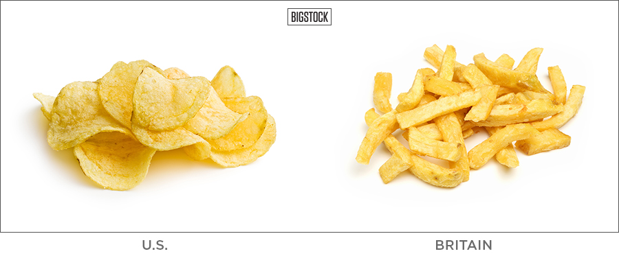 20 BRITISH WORDS THAT MEAN SOMETHING TOTALLY DIFFERENT IN THE U.S. chips