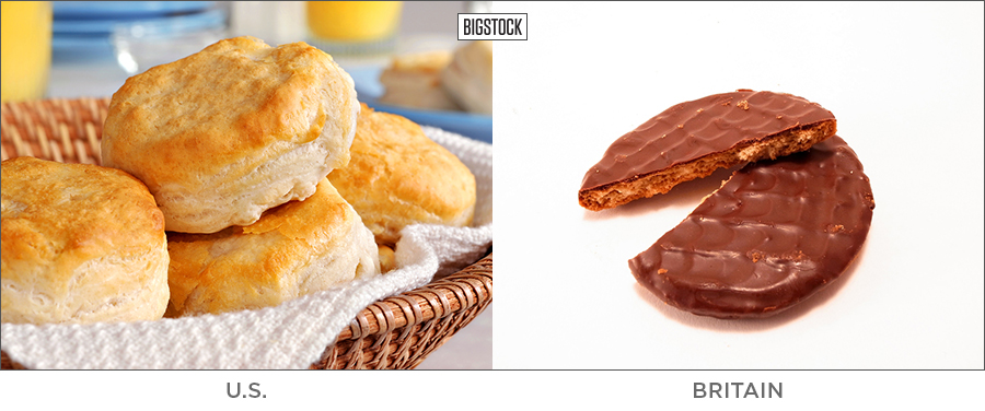 20 BRITISH WORDS THAT MEAN SOMETHING TOTALLY DIFFERENT IN THE U.S. biscuit