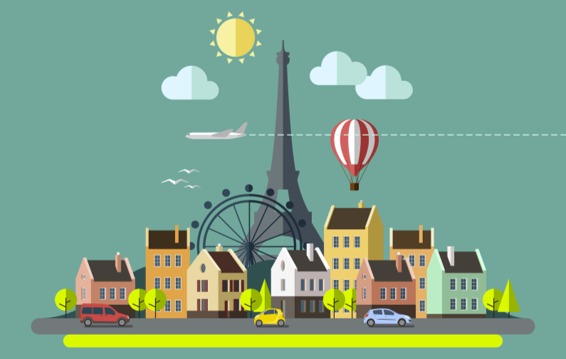 Illustration of Paris, France by Bigstock contributor  Faber14 .