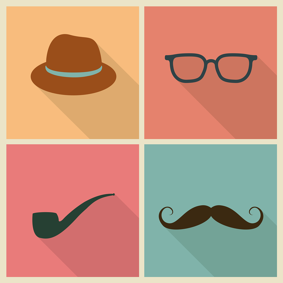 Stock illustration of Father's Day flat icons.