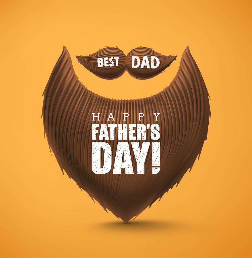 Father's Day beard illustration from _Lonely_