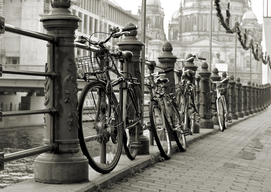 Stock photo of bikes in Berlin.