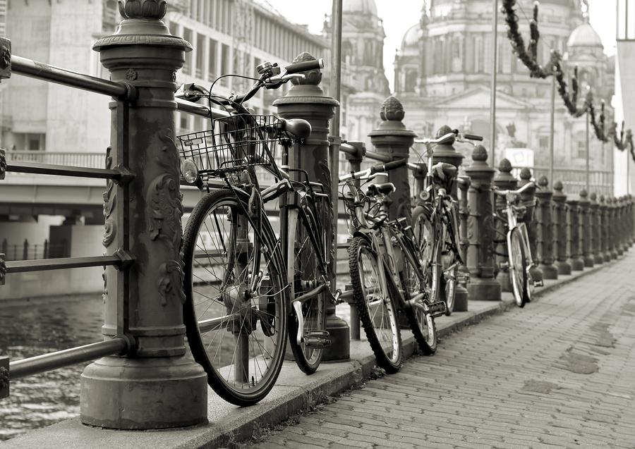 Stock photo of bikes in Berlin.