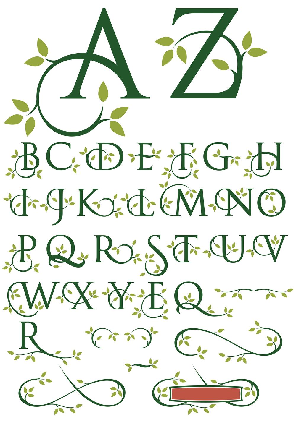Ornate swash alphabet |  Vectorhead