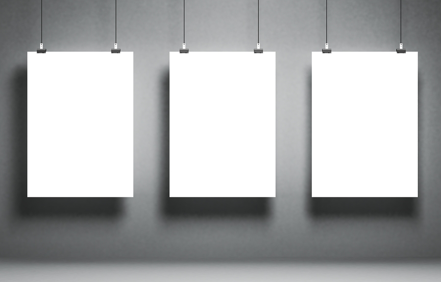 Stock image of blank white panels by 3DProfi .