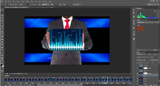 Screen shot image of Photoshop screen.