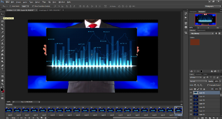 Screen shot image of Photoshop's Timeline function.