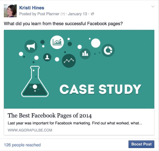 Screenshot of Facebook post.