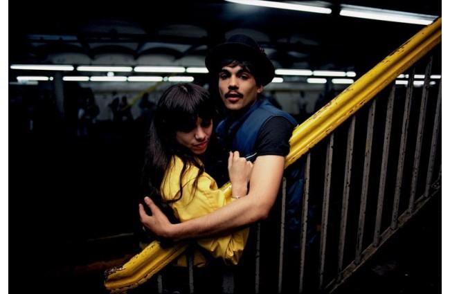 Untitled, (Couple on the Platform) from Subway, 1980 -- Bruce Davidson