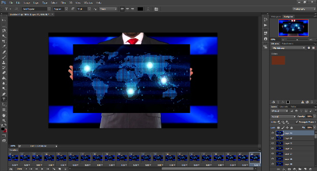 Screen shot image of Photoshop Timeline.