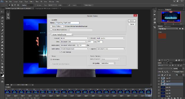 Screen shot image of Photoshop's Render Video screen.