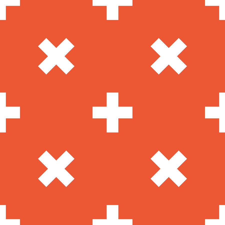 Orange plus pattern | Ylivdesign