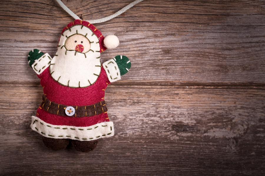 Handmade felt Santa Claus Christmas decoration by Rixie