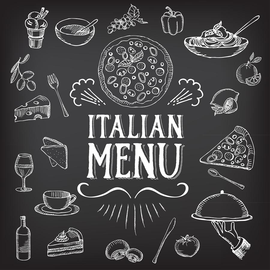 Vector illustration of cafe menu    Marchiez