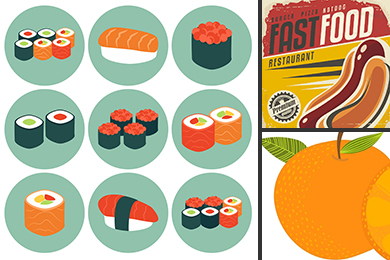food vector illustration