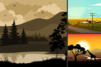 landscapes illustration
