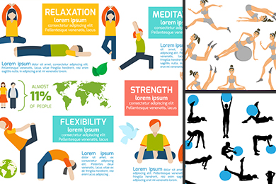 workout vector illustration